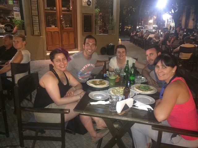 La última cena con: Ceci, Antonio, Mercedes, Soler y Mangeles