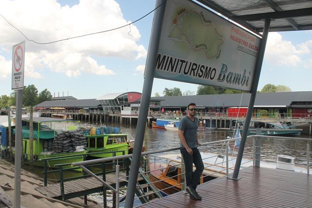 Jose Luis en el embarcadero