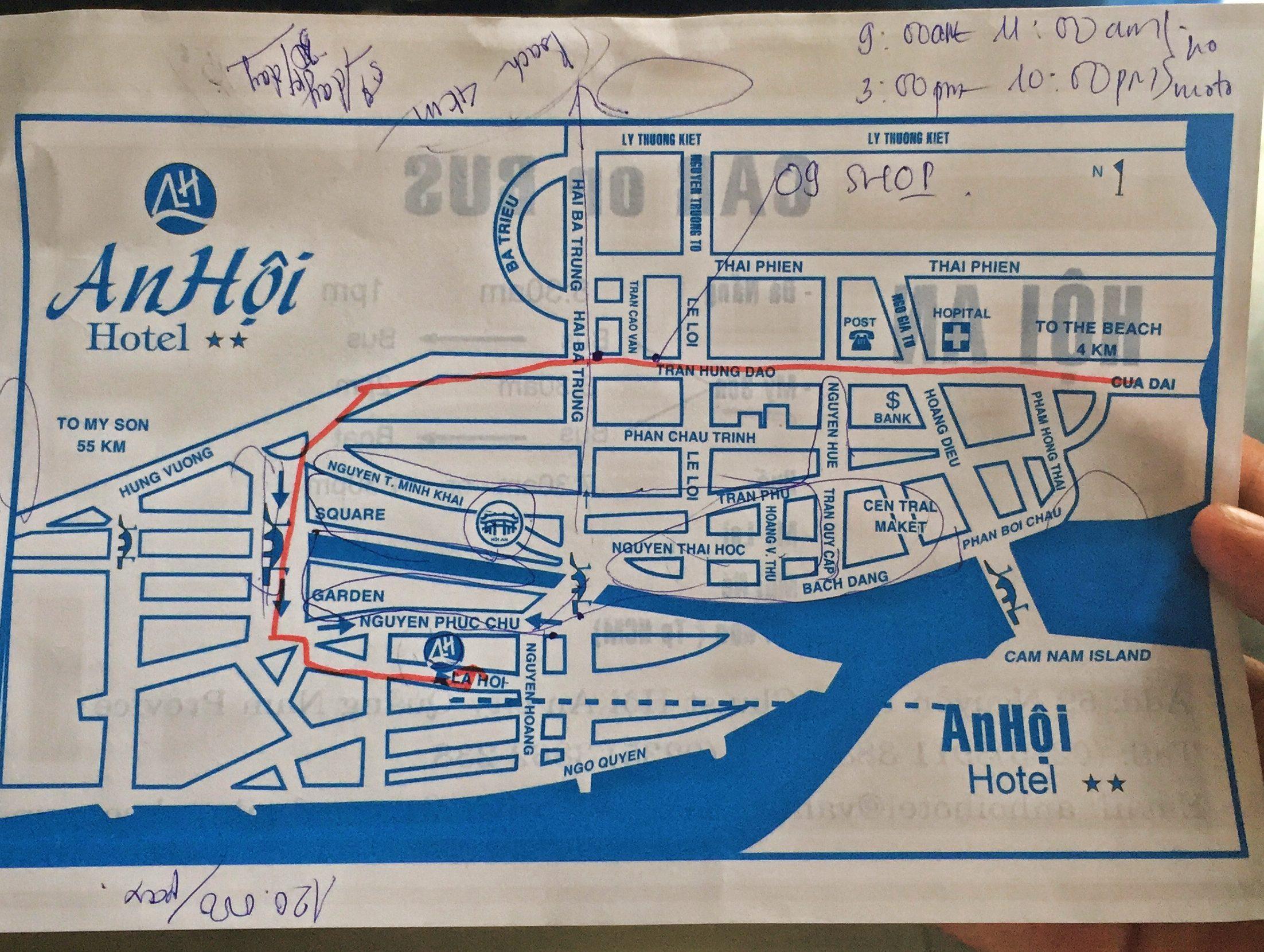Mapa del centro de Hoi An