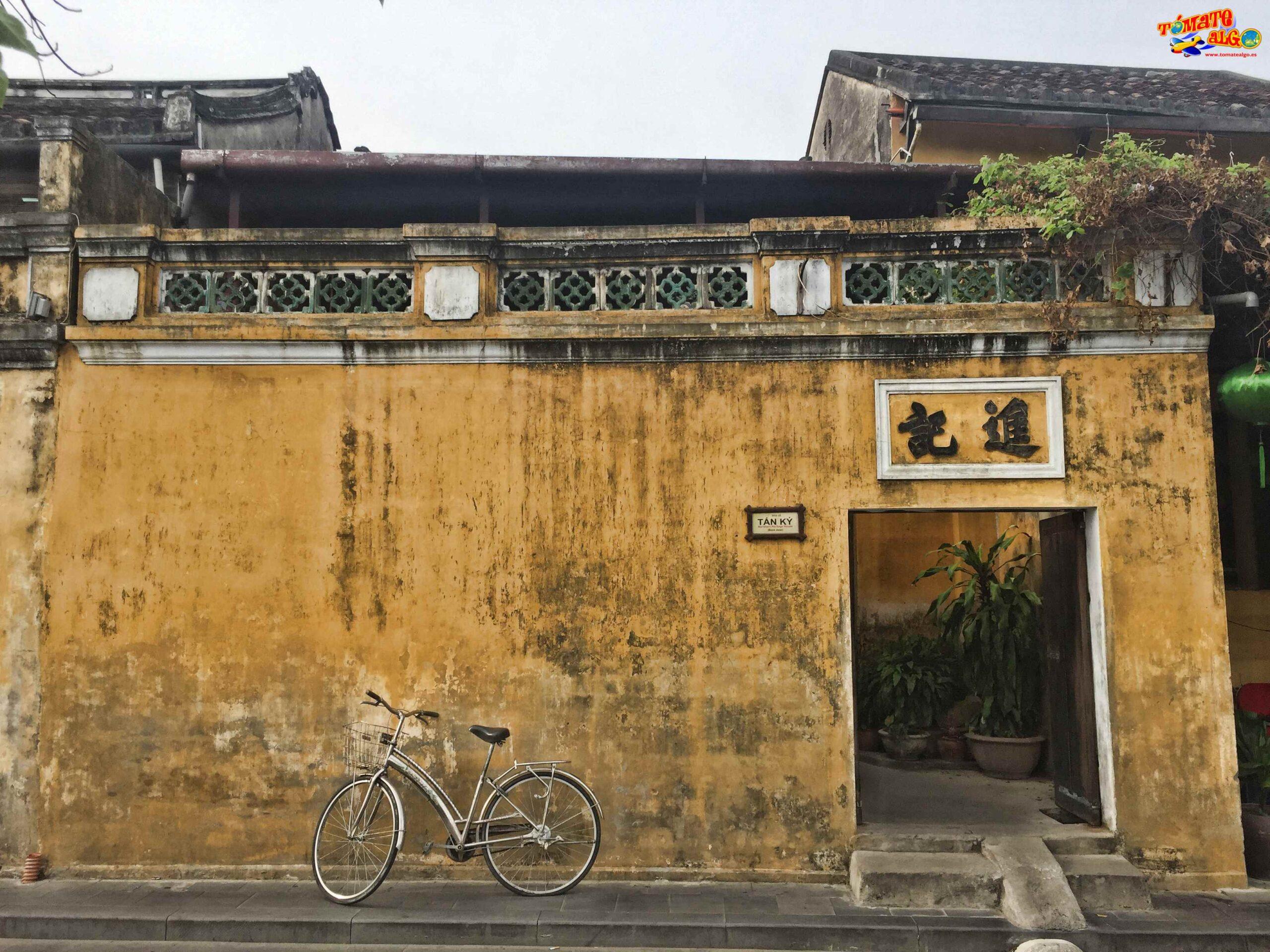 La fachada de la casa de Tan Ky