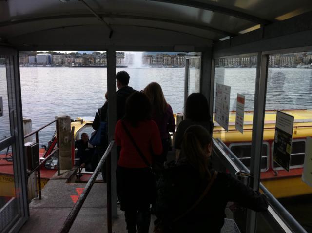 Trayecto en barco