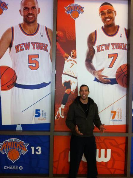 Foto con la estrella del equipo, Carmelo Anthony y el mitico Jason Kidd