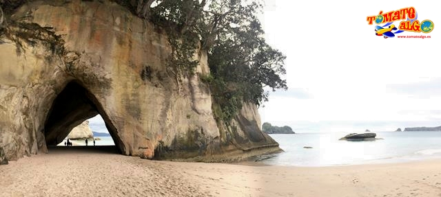 Panorámica de Cathedral Cove